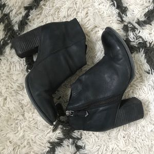 ASOS black leather ankle boots